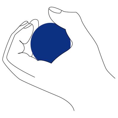 Pallina riabilitazione SCHIAVI SPORT gel silicone diam 50 mm palla media