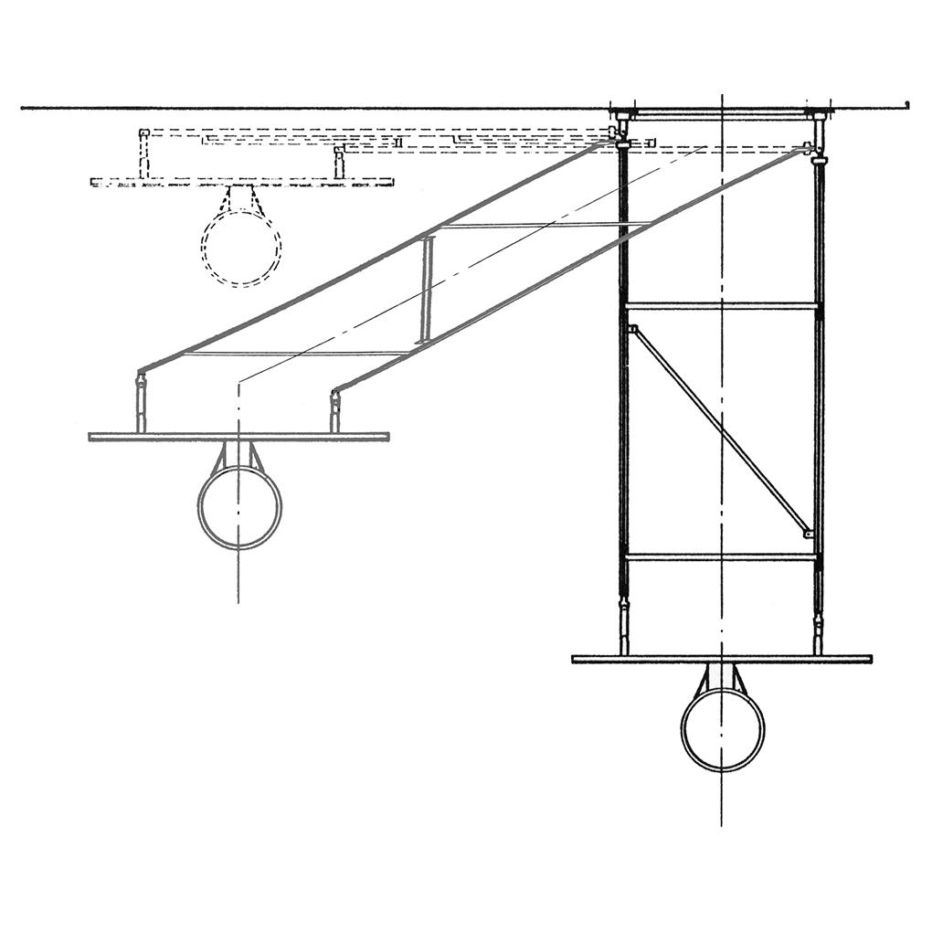 Art 2428 Rotating Basketball System Wall Mounted Schiavi Sport Hoop Diagram
