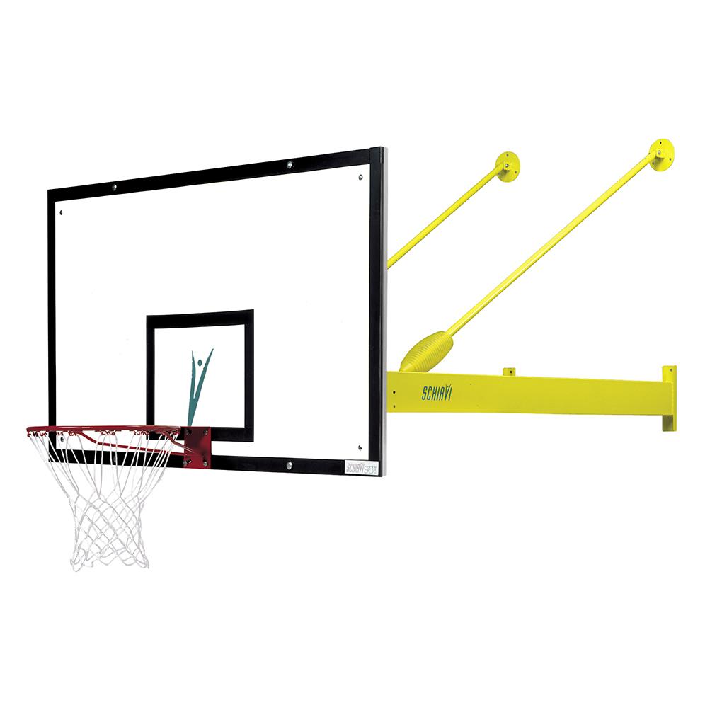 Art 2431 Steady Basketball System Wall Mounted Schiavi Sport Hoop Diagram